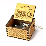 Beauty and the Beast Music Box- 18 Note Mechanism Antique Carved Wooden Music Box Crafts (Beauty and the Beast)
