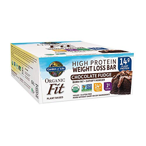 Garden of Life Organic Fit Bar Chocolate Fudge (12 per Carton) (Best Protein Bars For Weight Loss And Muscle Gain)
