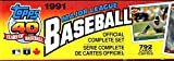 1991 Topps MLB Baseball Cards Complete Factory Set (792 Cards)