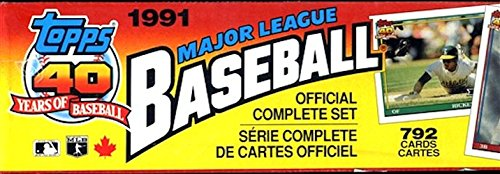 1991 Topps MLB Baseball Cards Complete Factory Set (792 -