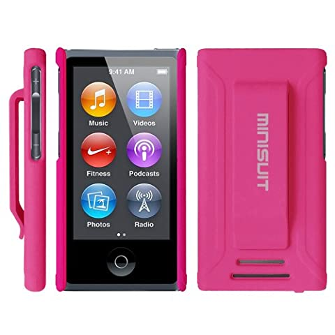 Minisuit JAZZ Slim Shell Case with Belt Clip + Screen Protector for iPod Nano 7 or 8 / 7th or 8th Gen (Rubberized (Durable Case For Ipod Classic)