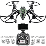 Drone with Camera Live Video - Predator FPV VR Quadcopter - Virtual Reality First Person View Flight in Real Time - Air Pressure Sensor Attitude Lock - Easy Control Headless Mode - Return Home Key