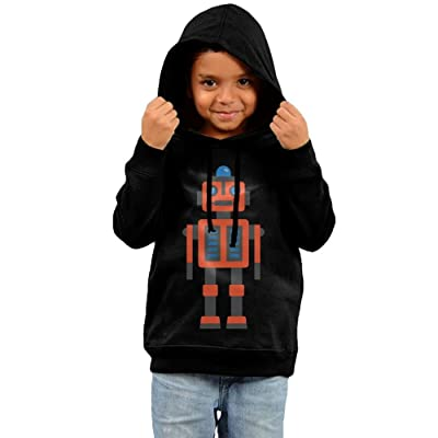 Baby Clothes Hooded Sweatshirt, Drawing Robot Cotton Infant Hoodie Tops For Boy Girls