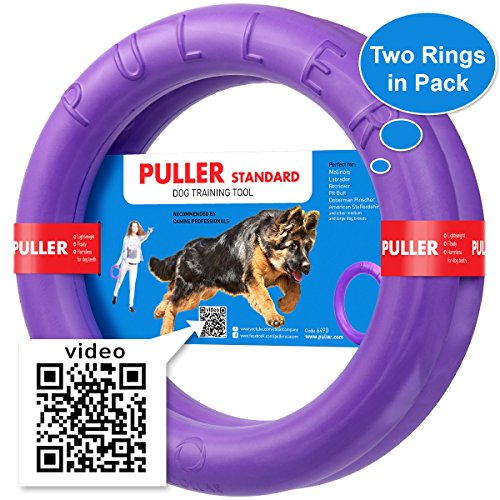 New Version 2018 Dog Training Tools - K9 Training Equipment and Bonus - Large Medium K9 Dog Training tool - Real physical and emotional load your dog - Set 2 Rings by Puller Plus - Size 11.2 inches