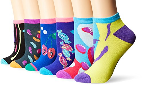 6 Pair Pack Assorted Anklet Socks for Adults and Kids | Mix an match Colors | Vibrant Colors Multiple Colors skuFV6fv