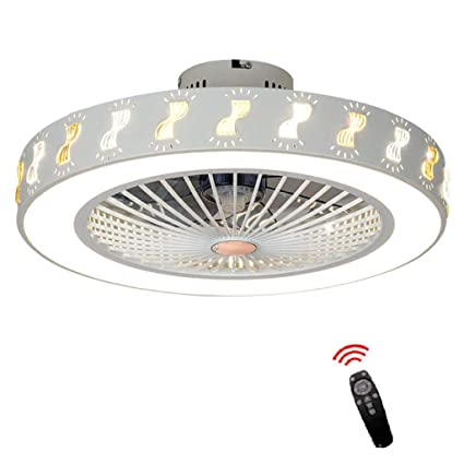 Swell Lxn 22 Modern Chandelier Ceiling Fan For Living Room Bedroom With Led Light Kit And Remote Control Invisible Ceiling Fan Light Three Color Dimmable Home Remodeling Inspirations Cosmcuboardxyz