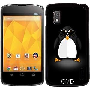 Funda para Google Nexus 4 - Pingüino Fresco by Adamzworld
