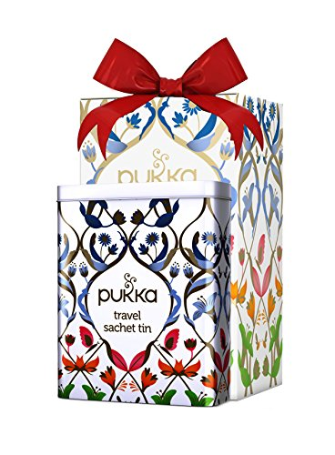 Pukka Herbal Collection Organic Tea Gift Tin Special Travel Edition | 5 Assorted flavors - 20 Organic Enveloped Tea ()