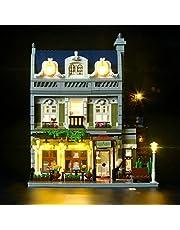 BRIKSMAX Parisian zestaw oświetleniowy LED do restauracji – kompatybilny z modelem klocków Lego 10243 – bez zestawu Lego