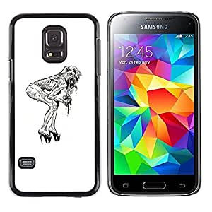EJOY---Cubierta de la caja de protección la piel dura para el / Samsung Galaxy S5 Mini, SM-G800 / --Pin Up Zombie