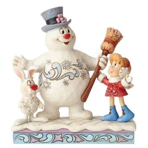 Frosty Snowman Figure - Department56 Enesco Snowman by Jim Shore Frosty Karen and Hocus Pocus, Multicolor