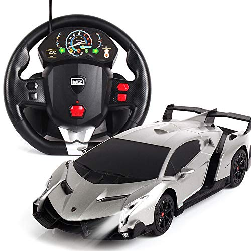 Luccky Gravity Induction Toy Car 2019 Classic Die-Casting Car Drift Sports Car Limited Edition Children's Toy Sports Car Remote Control Car Plaything LED Light Electric Radio Controlled RC Car - Gravity Nickel Fixture