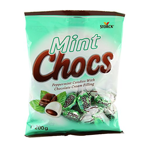 Mint Chocs, Peppermint Candies with Chocolate Cream Filling, net weight 200 g (Pack of 1 piece) / Beststore by KK ()