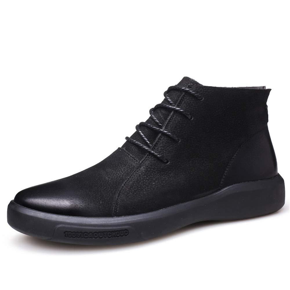 Yajie-stivali, Stivaletti alla Moda Stile Classico Britannico da Uomo (Colore (Colore (Colore   Nero, Dimensione   42 EU) 687464