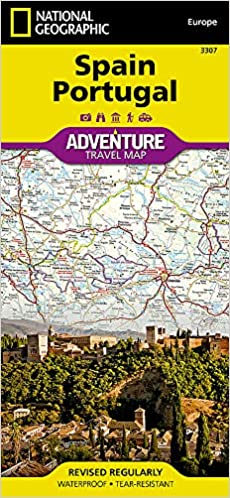 Travel Map Of Spain.Spain And Portugal National Geographic Adventure Map National