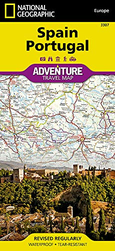 Spain and Portugal (National Geographic Adventure Map) (Maps Of Spain)
