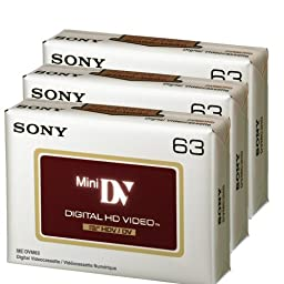 Sony DVC HD 63 Minute Videocassette - 3 Pack (Discontinued by Manufacturer)