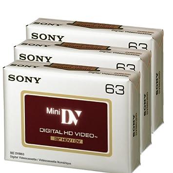 3 X SONY PRO Calidad De Alta Definición Videocámara Mini DV Digital las cintas//cassettes-DVM-63HD