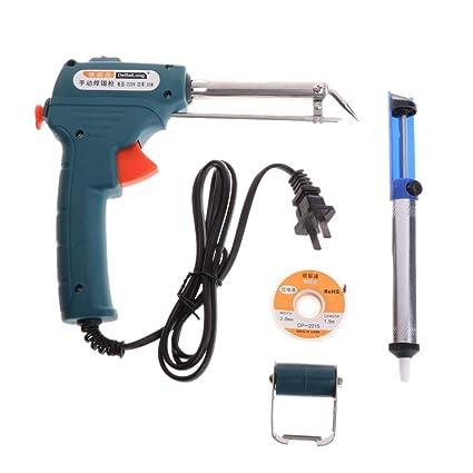 Cuigu 220 V 60 W automático Send Tin Gun soldadora eléctrica, Soporte de Hierro para
