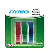 DYMO Embossing Label Maker with 3 DYMO Label Tapes