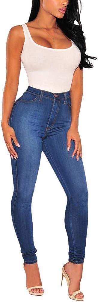 JESPER Women High Waist Stretch Curvy Jeans Casual Leggings Skinny Fitness Pants