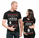 Silk Road Tees Christmas Couple Matching Maternity Tees Pregnancy Shirt There is a Cookie in That Oven Maternity Tee Shirt Gift Tee Men XXXXXXL - Women Small