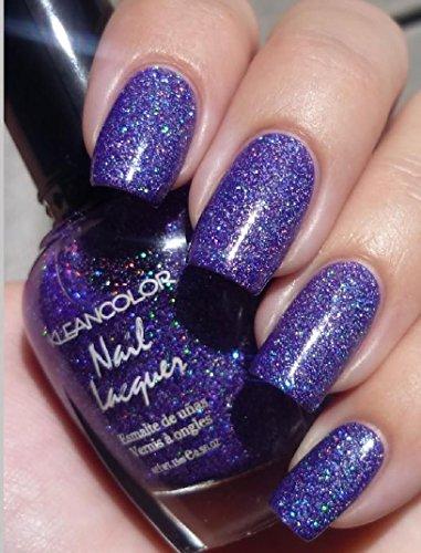 2 Pcs New Kleancolor Holo Chrome Metallic Purple Nail Polish