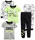 Carter's Boys' Toddler 5-Piece Cotton Snug-Fit Pajamas, Dino, 2T
