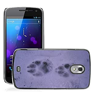 Hot Style Cell Phone PC Hard Case Cover // M00309521 Snow Footsteps Mountain Sila // Samsung Galaxy Nexus GT-i9250 i9250