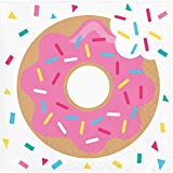 Creative Converting 322292 192 Count Beverage Paper Napkin, Donut Time