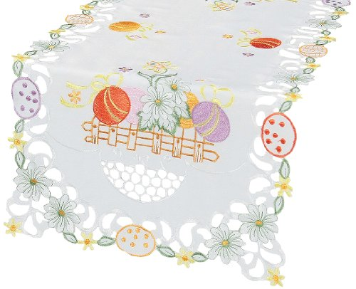 Xia Home Fashions Country Egg Embroidered Cutwork Easter ...