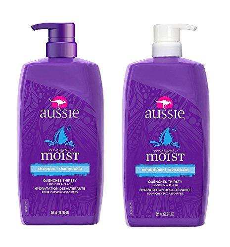 Price comparison product image Aussie Mega Moist Shampoo & Aussie Mega Moist Conditioner - 29.2 Oz each