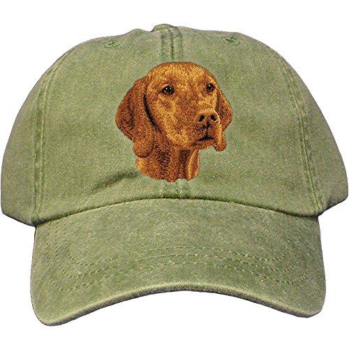Vizsla Accessories - Cherrybrook Dog Breed Embroidered Adams Cotton Twill Caps - Spruce - Vizsla