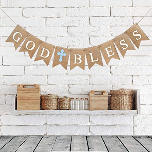 Great Burlap Communion Party Banner
