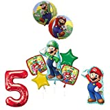 The ULTIMATE Super Mario Brothers and Luigi 5th Birthday Party Supplies Decorations