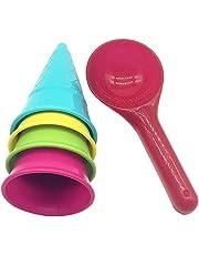 Toyvian Juegos de Playa para niños Juegos de cucharas de Helado Juegos de Playa Juguetes para
