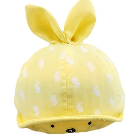 8f17f2644410a Gorras de bebé con Orejas de Conejo Dibujos Animados Sombrero de Sol Gorras  de