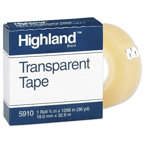 Highland Transparent Tape Clear MMM5910341296