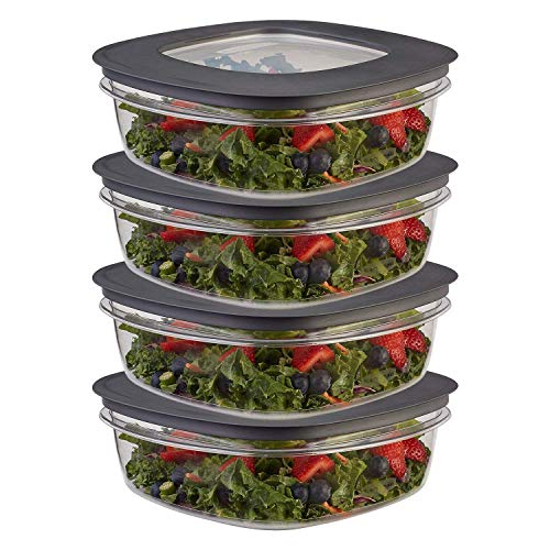 (Rubbermaid Premier Food Storage Container, 9 Cup, Grey (3 Pack))