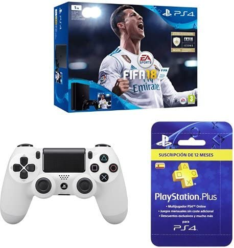 PlayStation 4 (PS4) - Consola de 1 TB + FIFA 18 + Sony - Dualshock ...