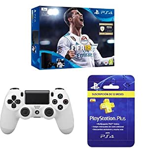 PlayStation 4 (PS4) - Consola de 1 TB + FIFA 18 + Sony ...