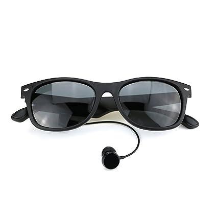 Camera Video Glasses Gafas De Conducción Ósea, Auriculares Deportivos Gafas De Sol Polarizadas Música Estéreo
