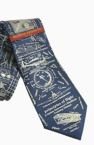 Museum Artifacts Principles of Flight Silk Tie Necktie Neckwear