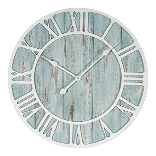 Lacrosse 404-4060 23.5 Inch Coastal Decorative Quartz Wall Clock