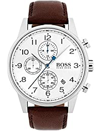 1513495 Brown 44mm Stainless Steel Navigator Men's Watch