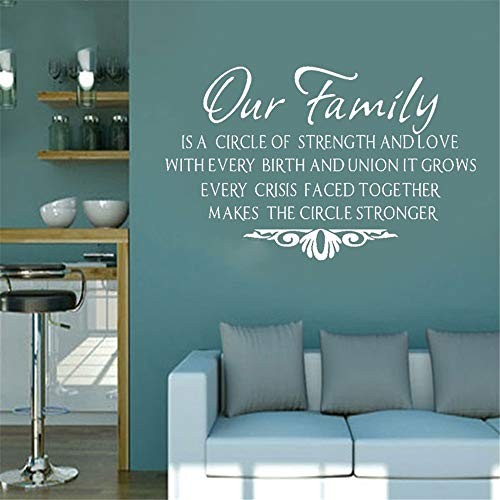 Wall Stickers Art Decor Decals Our Family Modern Living Room Quotes Phrases English Text for $<!--$16.35-->
