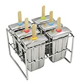 Onyx Stainless Steel Ice Pop Mold Set - Paddle Style