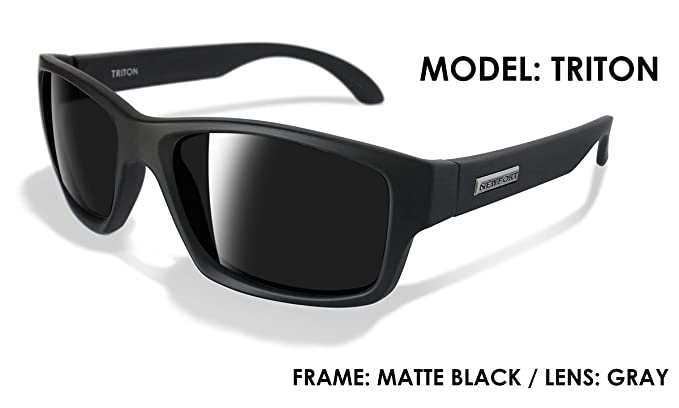 d21e347ee1 NEWPORT POLARIZED Sunglasses TRITON Matte Black Polarized Grey Lens