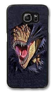 Samsung Galaxy S6 Edge Case, T-Rex Tearing High Quality Hard Shell Snap-on Case for Samsung Galaxy S6 Edge Black Bumper