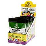 Eden Foods Organic Shelled and Dry Roasted Pistachios, 1 Ounce - 12 per case.